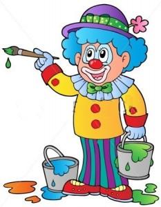 klaun barvy